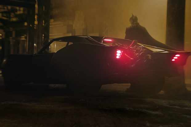The Batmobile in Robert Pattinson's The Batman, directed by Matt Reeves