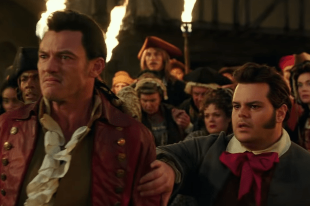 Luke Evans (Gaston) and Josh Gad (LeFou)