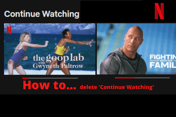 How to delete Continue Watching on Netflix