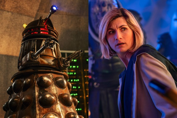 A Dalek with Jodie Whittaker's Doctor (BBC)