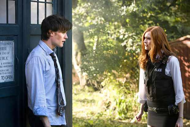 Matt Smith and Karen Gillan in Doctor Who: The Eleventh Hour (BBC)