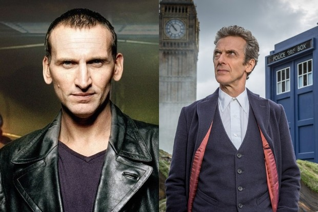 Christopher Eccleston and Peter Capaldi in Doctor Who (BBC)