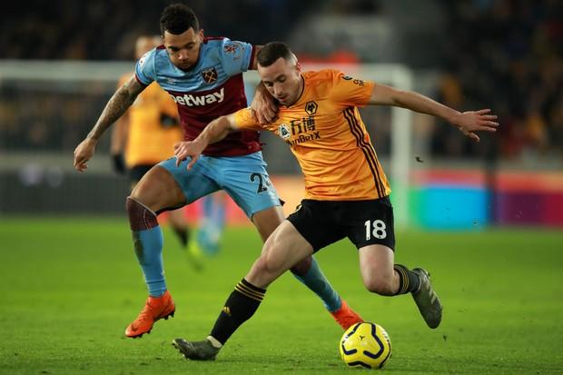 Ryan Fredericks Diogo Jota West Ham Wolves