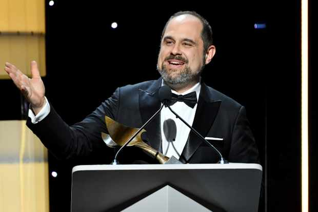 "BEVERLY HILLS, CALIFORNIA - FEBRUARY 01: Craig Mazin accepts the ""Outstanding Writing Original Long Form"" award for ""Chernobyl"" onstage during the 2020 Writers Guild Awards West Coast Ceremony at The Beverly Hilton Hotel on February 01, 2020 in Beverly Hills, California. (Photo by Amy Sussman/Getty Images for WGAW)"