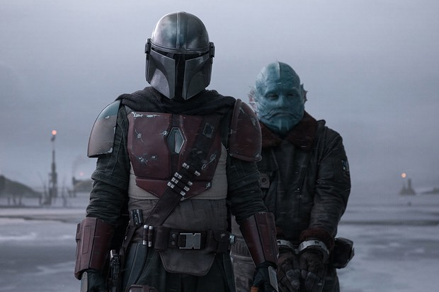 Pedro Pascal is the Mandalorian and Horatio Saenz is the Mythrol in THE MANDALORIAN, exclusively on Disney+