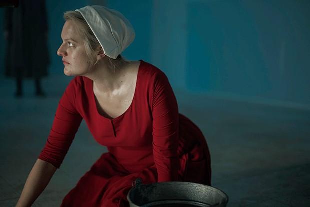 Elizabeth Moss as June in The Handmaid's Tale