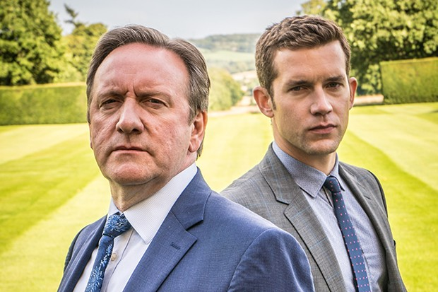 Neil Dudgeon and Nick Hendrix in Midsomer Murders on ITV