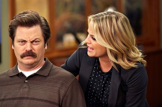 Ron and Leslie from Parks and Recreation