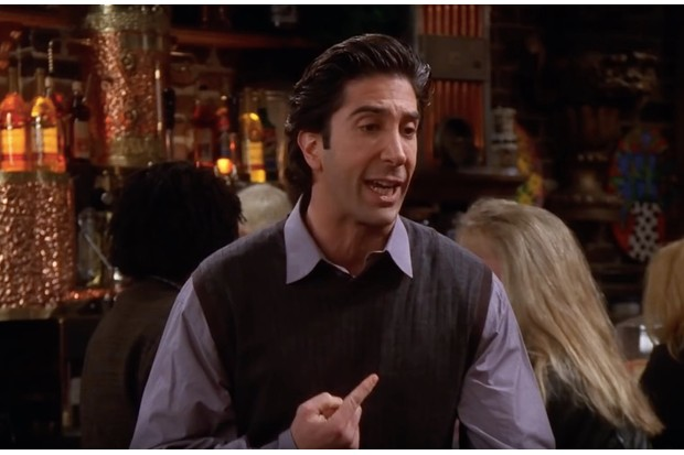 Ross from Friends is talking about his sandwich