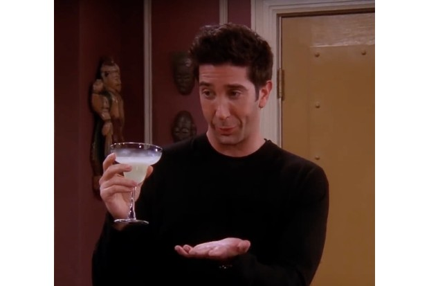 Ross from friends drinking a margherita