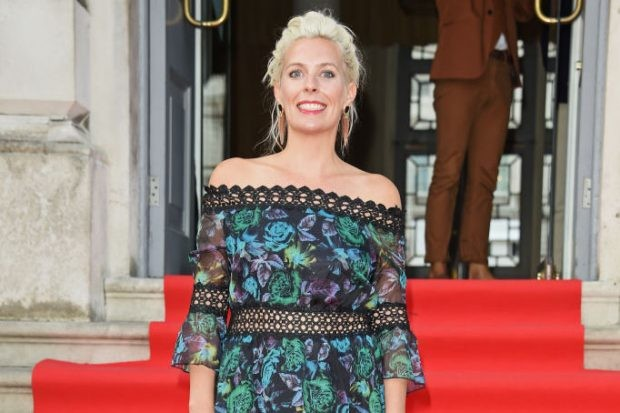 "LONDON, ENGLAND - AUGUST 09:  Sara Pascoe walks the red carpet at Somerset House to celebrate the opening of Film4 Summer Screen at Somerset House on August, 9, 2018 in London England.Ê The cast and director of ""The Wife"" were in attendance for its UK Premiere, which opened Film4 Summer Screen at Somerset House on August 9, 2018.Ê The open-air film festival returns until August, 22 2018.  (Photo by David M. Benett/Dave Benett/Getty Images for Somerset House)"