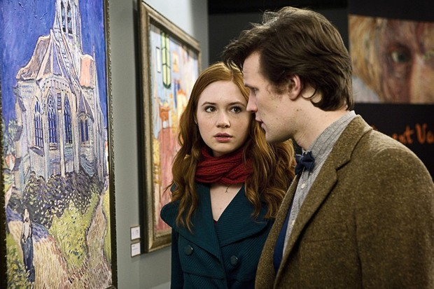 Karen Gillan and Matt Smith in Doctor Who: Vincent and the Doctor (BBC)