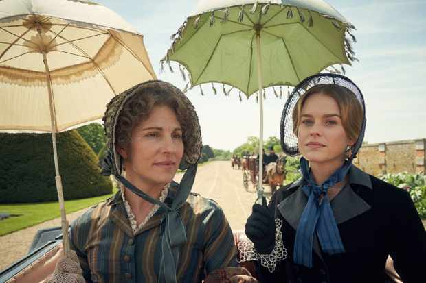 EMBARGIOED UNTIL 5.00PM ON 4TH jUNE 2019.  CARNIVAL FILMS FOR ITV  BELGRAVIA  Pictured:  TAMSIN GREIG as Anne Trenchard and ALICE EVE as Susan Trenchard.  This image is the copyright of Carnival Films.