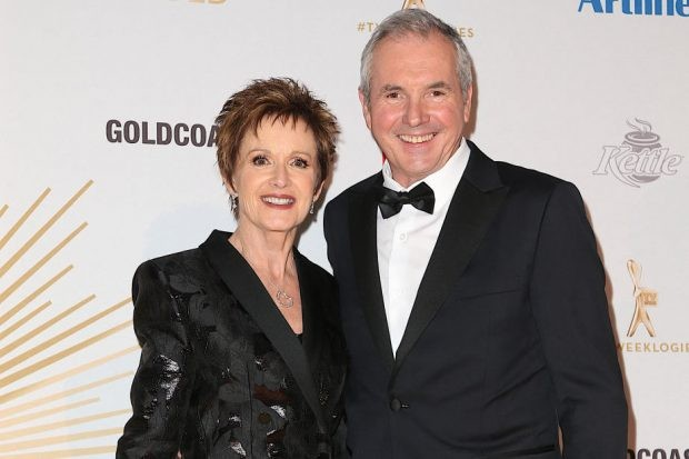 GOLD COAST, AUSTRALIA - JUNE 30: Jackie Woodburne and Alan Fletcher arrive at the 61st Annual TV WEEK Logie Awards at The Star Gold Coast on June 30, 2019 on the Gold Coast, Australia. (Photo by Faith Moran/Wireimage)