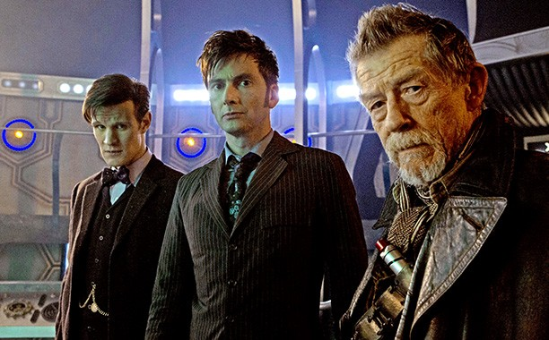 Matt Smith, David Tennant and John Hurt in Doctor Who: The Day of the Doctor (BBC)