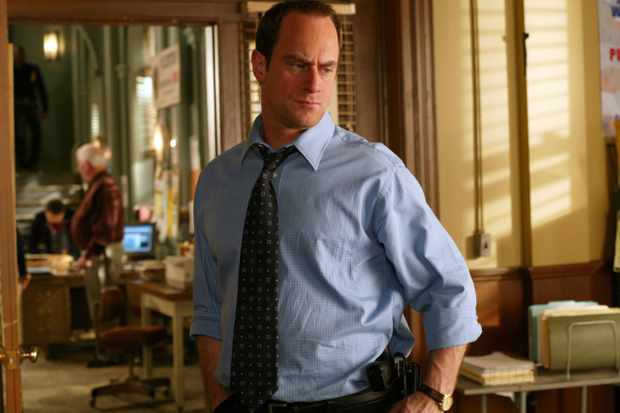 "LAW & ORDER: SPECIAL VICTIMS UNIT -- ""Home"" Episode 16 -- Pictured: Christopher Meloni as Detective Elliot Stabler  (Photo by Will Hart/NBCU Photo Bank/NBCUniversal via Getty Images via Getty Images)"
