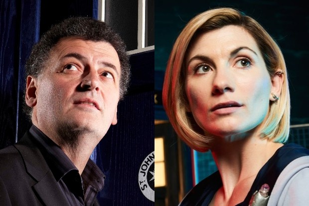 Steven Moffat and Jodie Whittaker (BBC, Radio Times)