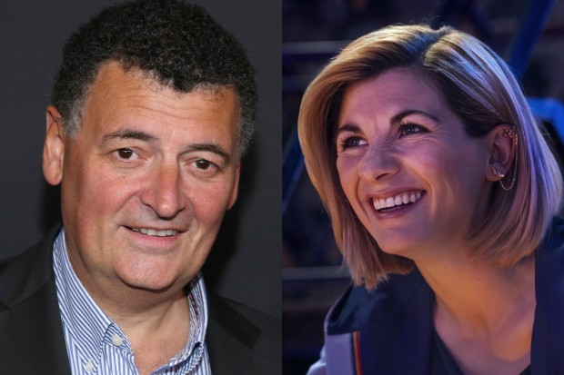 Steven Moffat and Jodie Whittaker (Getty, BBC)