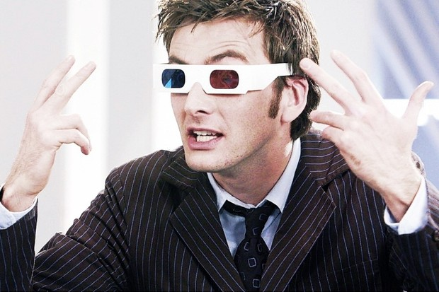 3d glasses David Tennant