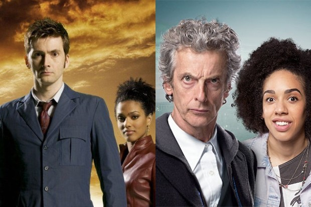 David Tennant, Freema Agyeman, Peter Capaldi and Pearl Mackie in Doctor Who (BBC)
