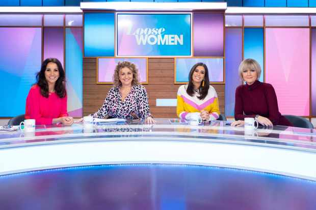 Editorial use only From ITV Daytime   LOOSE WOMEN Weekdays on ITV   Pictured: Andrea McLean, Nadia Sawalha, Stacey Solomon and Jane Moore   Photographer Ken McKay   (C) ITV   For further information please contact Peter Gray 0207 157 3046 peter.gray@itv.com    This photograph is © ITV and can only be reproduced for editorial purposes directly in connection with the  programme This Morning or ITV. Once made available by the ITV Picture Desk, this photograph can be reproduced once only up until the Transmission date and no reproduction fee will be charged. Any subsequent usage may incur a fee. This photograph must not be syndicated to any other publication or website, or permanently archived, without the express written permission of ITV Picture Desk. Full Terms and conditions are available on the website https://www.itv.com/presscentre/itvpictures/terms