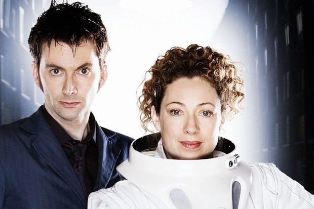 David Tennant and Alex Kingston in Doctor Who