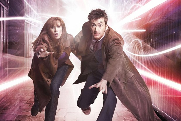Catherine Tate and David Tennant in Doctor Who (BBC)