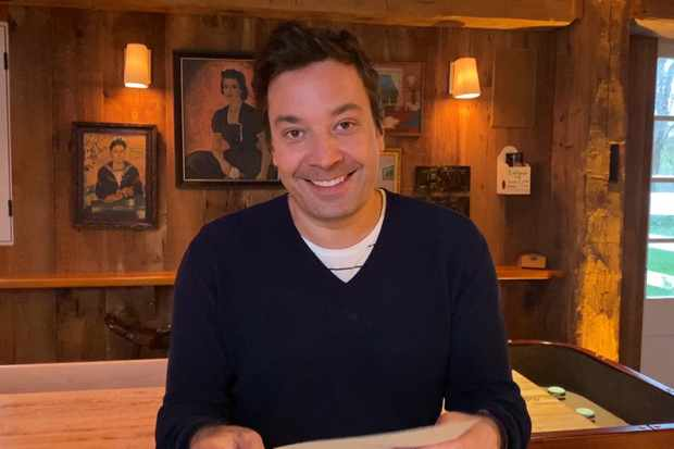 THE TONIGHT SHOW STARRING JIMMY FALLON -- Episode 1246E -- Pictured in this screengrab: Host Jimmy Fallon on April 21, 2020 -- (Photo by: NBC/NBCU Photo Bank via Getty Images)