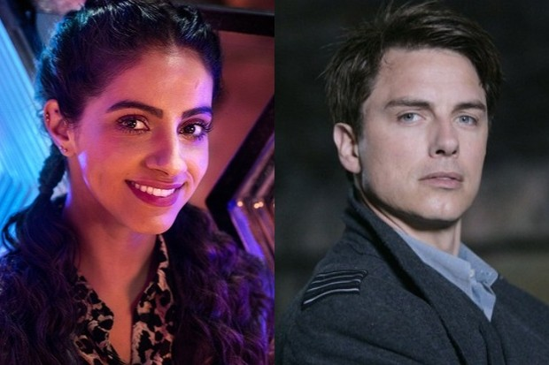 Mandip Gill in Doctor Who and John Barrowman in Torchwood (BBC)