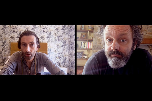 Michael Sheen and David Tennant in Staged on BBC One