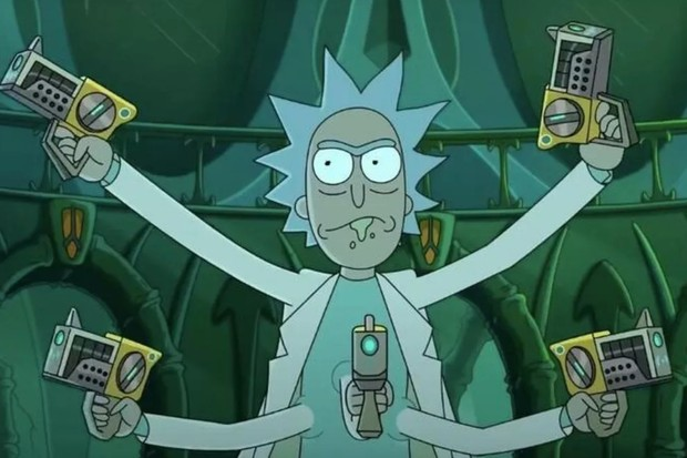 Justin Roiland's Rick Sanchez in Rick and Morty (C4)