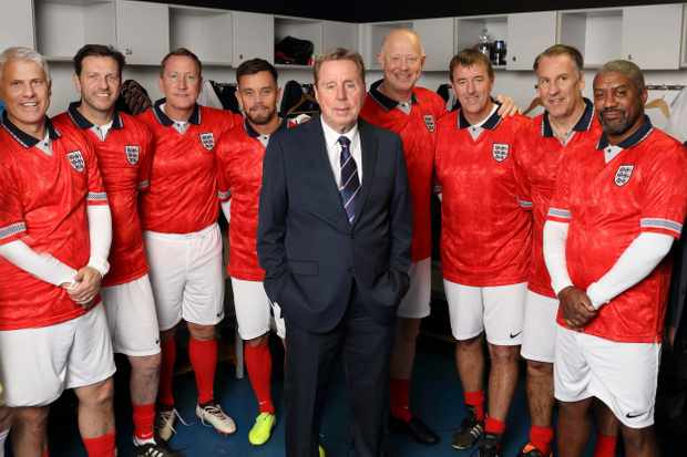 From Talkback Thames   HARRYS HEROES EURO HAVING A LAUGH Starts Monday 18th May 2020 on ITV   Pictured (l-r) Rob Lee, Lee Sharpe, Ray Parlour, Lee Hendrie, Harry Redknapp, Mark Wright, Matt Le Tissier  Paul Merson and Mark Chamberlain  In this sequel to the award winning HarryÕs Heroes: The Full English,ÊHarry RedknappÊis taking his team of old England Legends on a European Tour. Joining Harry again as Assistant Manager is Liverpool LegendÊJohn Barnes, and the team is a who whoÕs of England Internationals including:ÊDavid Seaman,ÊPaul Merson,ÊMatt Le Tissier,ÊRob Lee,ÊRay Parlour,ÊLee Sharpe,ÊMark Chamberlain,ÊMark Wright,ÊRazor Ruddock,Êand new addition, Aston VillaÕsÊLee Hendrie.ÊÊ   Photographer Tony Ward   (c) ITV   This photograph is © ITV and can only be reproduced for editorial purposes directly in connection with the  programme HARRY HEROES EURO HAVING A LAUGH or ITV. Once made available by the ITV Picture Desk, this photograph can be reproduced once only up until the Transmission date and no reproduction fee will be charged. Any subsequent usage may incur a fee. This photograph must not be syndicated to any other publication or website, or permanently archived, without the express written permission of ITV Picture Desk. Full Terms and conditions are available on the website https://www.itv.com/presscentre/itvpictures/terms
