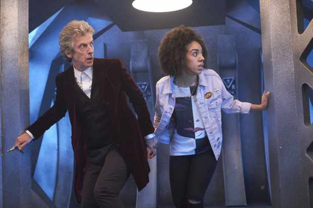 Peter Capaldi and Pearl Mackie in Doctor Who (BBC)