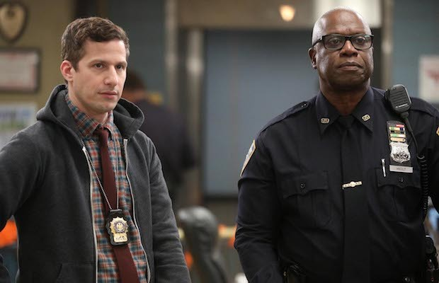 Andy Samberg as Jake Peralta, Andre Braugher as Captain Holt