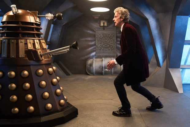Peter Capaldi with a Dalek in Doctor Who (BBC)