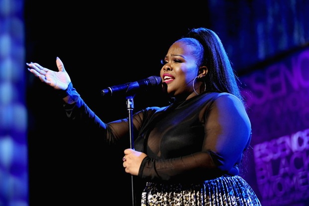 BEVERLY HILLS, CA - FEBRUARY 21:  Amber Riley performs onstage during the 2019 Essence Black Women in Hollywood Awards Luncheon at Regent Beverly Wilshire Hotel on February 21, 2019 in Los Angeles, California.  (Photo by Rich Polk/Getty Images for Essence)