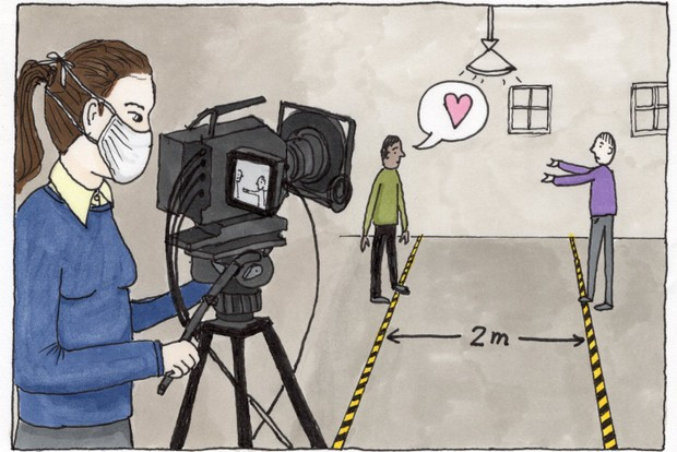 Illustration - filming under covid safety guidelines