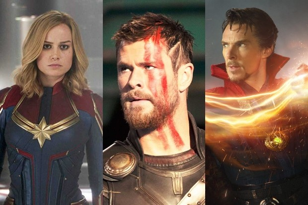 Captain Marvel Thor Doctor Strange