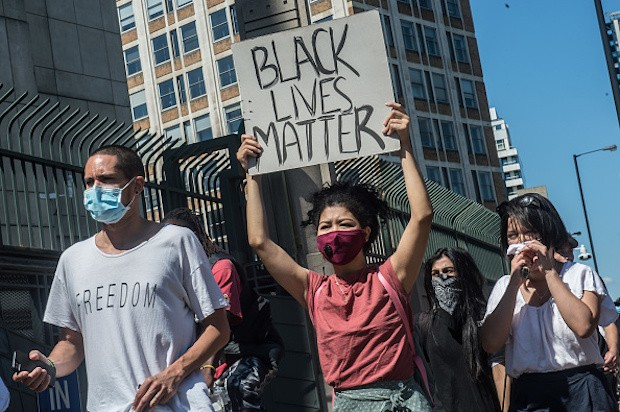 A Black Lives Matter march through London, protesting the death of George Floyd in Minneapolis (Credit: Getty Images)