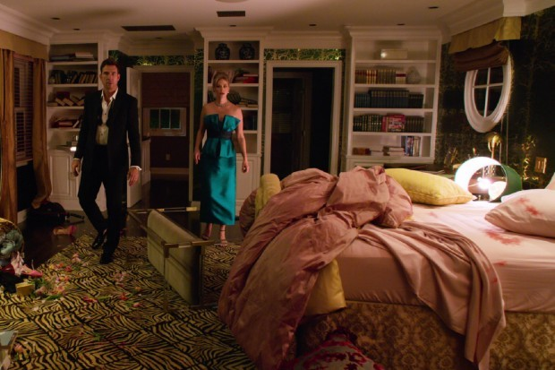Dylan McDermott and January Jones in The Politician on Netflix