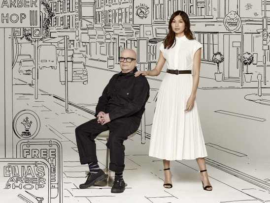 Dominic Minghella and Gemma Chan by Mark Harrison