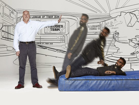 Romesh Ranganathan with Andrew Norgate by Mark Harrison