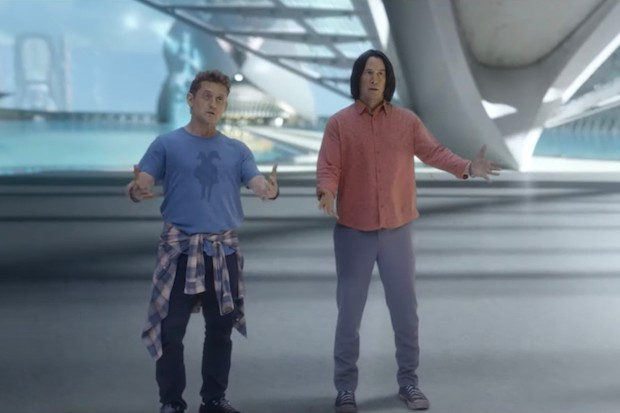 Keanu Reeves and Alex Winter in the Bill & Ted Face the Music trailer