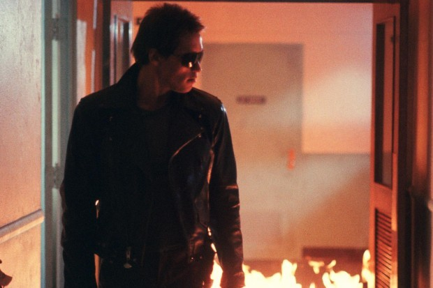 Arnold Schwarzenegger plays the T-800 Terminator, in the Terminator franchise