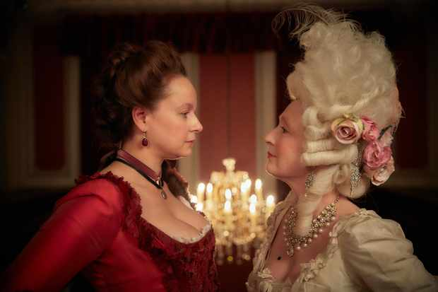 Samantha Morton and Lesley Manville in Harlots
