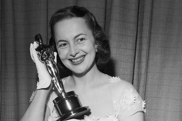 Olivia de Havilland with her second Best Actress Oscar