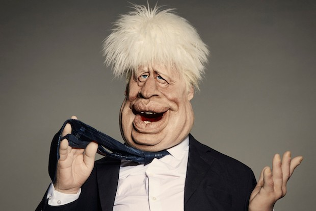Boris Johnson Spitting Image