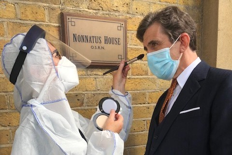 Dr Turner played by Stephen McGann on set at Call the Midwife