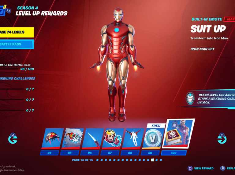 Fortnite Chapter 2 Season 4 Battle Pass Skins How To Unlock Each Marvel Hero Radio Times