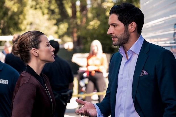 Lucifer stars Lauren German and Tom Ellis on Netflix